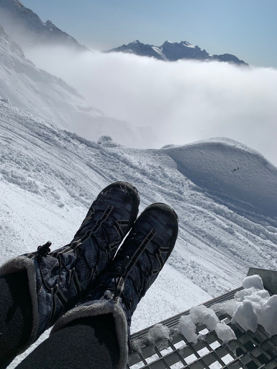Pak'ems packable boots in Switzerland